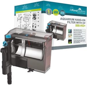 All Pond Solutions Aquarium Hang On Back Fish Tank Filter, 500 L/H