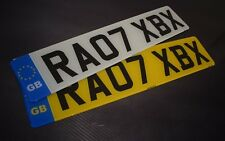 Pair Standard GB Euro road legal Number Plates 100% MOT Compliant - FREE POSTAGE