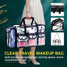 Large Capacity Cosmetic Bags PVC Transparent Travel Tote Organizer Make Up Bag