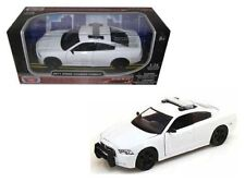 DODGE CHARGER PURSUIT UNMARKED BLANK WHITE POLICE CAR 1/24 MOTORMAX 76934