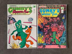 Gumby's Summer + Winter Fun Special 2 Book Art Adams Lot Comico