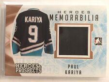 2016-17 Heroes & Prospects Paul Kariya Jersey Heroes Memorabilia ITG 16/17