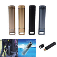 Aluminum EDC Survival Kit Waterproof Seal Bottle Tank Capsule Storage Container