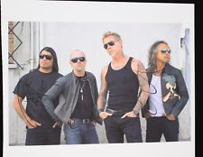 Metallica Signed Promo Picture by all its members except James collectable
