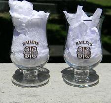 Baileys Irish Cream Cordial Aperitif Shot Glass (Celtic Gold Logo) Pair