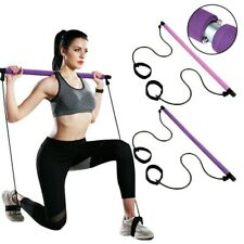 Portable Pilates Bar Kit W/Resistance Band Gym Sport Exercise Stick Adjustable