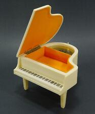 Vintage White Plastic Grand Piano Music Box - Jewelry Box - Sankyo - Hong Kong