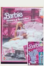 BARBIE SWEET ROSES  Ribbon And Roses Bed NRFB + Lingerie Pack 1987 NRFB