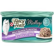 New listing Purina Fancy Feast Medleys Florentine Collection Gourmet Wet Cat Food Salmon 3oz