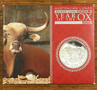 2009 Lunar Year of The Ox 1oz Silver Proof Coin - Australia Perth Mint
