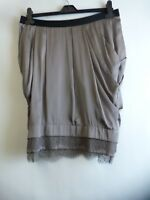 BRAND NEW M&S LIMITED COLLECTION GREY SATIN LOOK SKIRT SIZE 12 RRP £35