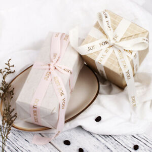 DIY LOVE Flowers decorated Party Day gift polyester wrapping ribbon