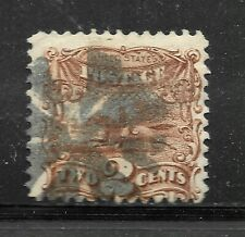 U.S. #113 The 1869 2 Cent Post Horse & Rider with Fancy Cancel C.V. $85.00