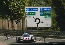 Jani, Tandy, Lotterer Hand Signed Porsche Le Mans 2017 12x8 Photo.