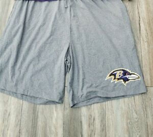 Baltimore Ravens Shorts Lounge Logo Gray size X-large New!