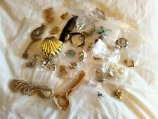 Job Lot of antique and vintage costume jewelry Necklaces Brooches Earings Estate