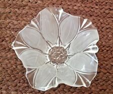 Beautiful Frosted Crystal Blooming Flower Candy Dish