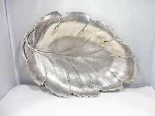 GORGEOUS HEAVY STERLING SILVER LEAF PLATTER 15 TROY OUNCES