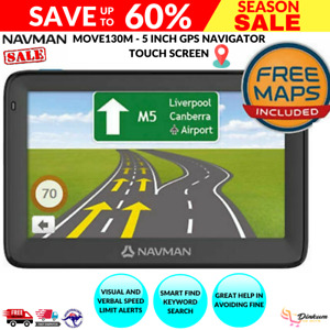 """Navman MOVE130M 5"""" Touch GPS Navigator w/ Speed and Vehicle Safety Alerts New AU"""