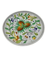 1950's Italian modernist floral ceramic dish Fratelli Fanciullacci for Bitossi