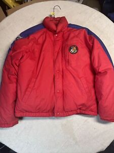VINTAGE POLO RALPH LAUREN SKI JACKET  90'S SPORTS WINTER WARM RARE BLUE RED USED