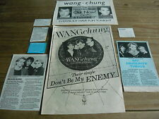 WANG CHUNG - MAGAZINE CUTTINGS COLLECTION (REF SB)