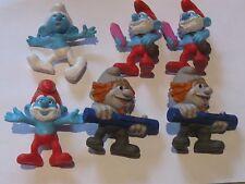 FASCIO di 6 miniature Smurf Figure in ottime condizioni