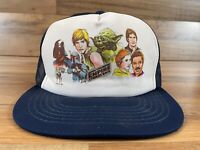 Vintage 1981 Star Wars Empire Strikes Back Mesh Snapback Hat Boba Fett Luke Yoda