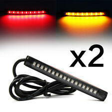 2x Flexible 17 LED Light Strip Rear Tail Turn Signal Indicator Lamp Motorcycle
