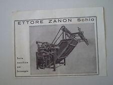advertising Pubblicità 1948 MACCHINE PER FINISSAGGIO ETTORE ZANON - SCHIO