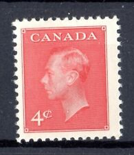 """1950 KING GEORGE VI - """"POSTES-POSTAGE"""" OMITTED, UC# 292, 4c,  IN MNH  COND"""