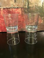 4 Vintage Rare HTF Libbey Rock Sharpe Urban Clear Dot Old Fashioned Glasses