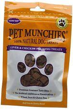 PET Munchies fegato e pollo ADDESTRAMENTO premi per cani 50g, confezione da 8