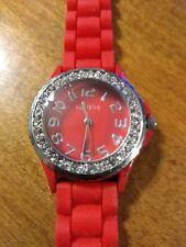 Vintage Geneva Gemmed Ladies watch, running w/new battery installed M