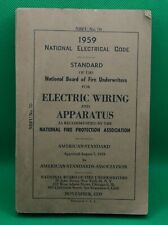 New listing 1959 National Board of Fire Underwriters Electric Wiring and Apparatus