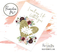 Bridesmaid Proposal card. Will you be my Bridesmaid, Maid of Honour, Flower Girl