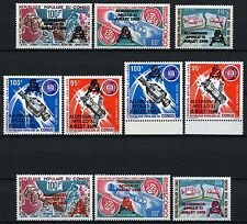 Space Raumfahrt 1979 Congo Kongo Brazzaville 702-705 Black & Red Ovpt MNH/1132