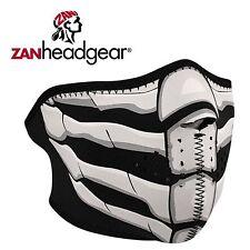 Zan Headgear Neoprene Half Face Mask Glow in the Dark Bone Breath Cold Gear Ride