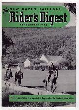 Rare NEW HAVEN RAILROAD Rider's Digest 1945 WWII Train RR Trains HARTFORD York