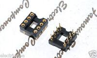 2pcs - 8-Pin IC Socket DIP Gold-Plated