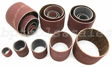 20 Pc Rotary Sanding Drum Paper Set 80 Grit & 120 Grit New