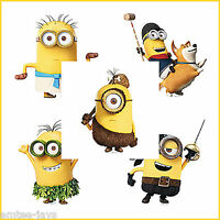Minion Stickers x 5 - Shaped Minions Stickers - Birthday Party Favours Supplies