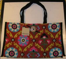 Atenti Colorful Tote, Knitting Bag with tags