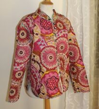 NWT Sacred Threads Sz L Crazy Reversible Quilted Art-to-Wear Funky Jacket Coat