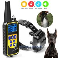 Remote Rechargeable Dog Shock Control Training Collar Waterproof Range 2600ft