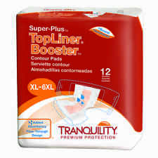 Tranquility Top Liner Booster Super Plus-Contour Pad Case of 96 #3097