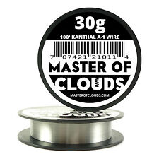 100 ft - 30 Gauge AWG A1 Kanthal Round Wire 0.25mm Resistance A-1 30g GA 100'