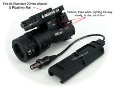 New Airsoft M720V (Black) LED High Output Weaponlight For Picatinny Rail
