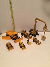 VINTAGE LOT OF 7 CONSTRUCTION VEHICLES KAIDIWEI, MERCURY, ERTL, PAYLOADER, OTHER