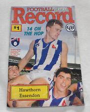 1990 AFL Football Record Hawthorn Hawks v Essendon Bombers Vol.79 No.16